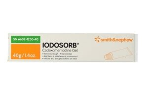 Iodosorb gel for wounds