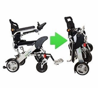 Как сложить электрическую инвалидную коляску KD Smart