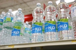 Purified bottled water to prepare for hurricane irma