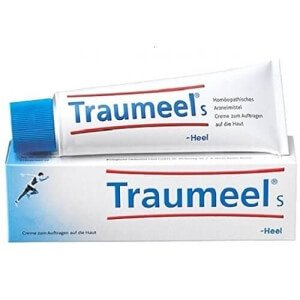 Traumeel ointment to reduce pain and inflammation of wounds