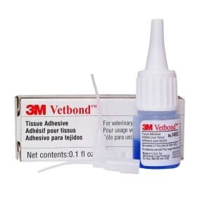 Vetbond skin glue to stop bleeding